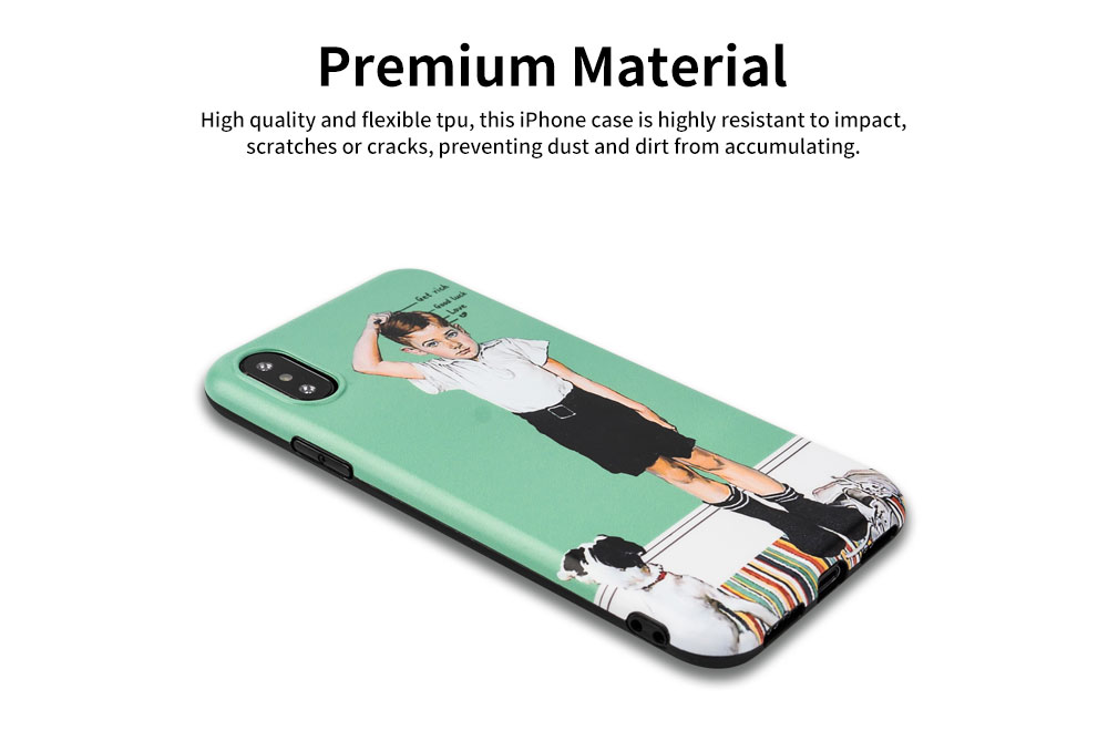 Creative Phone Case Retro Europe and America Matte Soft TPU Back Case Cover Phone Protective Shell for iPhone 6s 7/ 7 Plus / 8/ 8 Plus/XS/X MAX/XS MAX/XR 3
