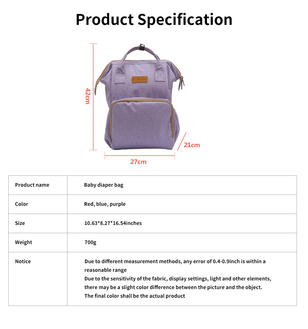 Large Baby Diaper Backpack Multi-Functional, Waterproof, Stylish and Durable Travel Diaper Bags for Mom, Dad 6
