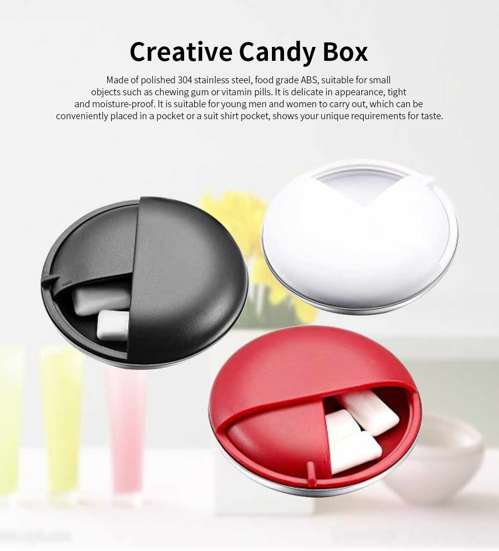 Round Chess Shape Pill Box, Creative Stainless Steel Medicine Candy Box 0