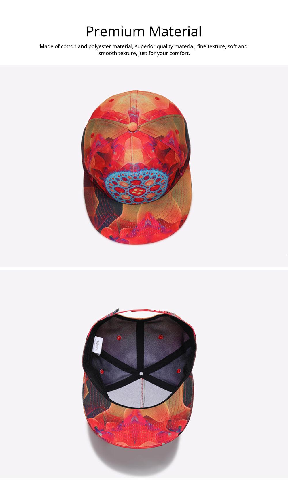 Fashion Flat-Brimmed Baseball Cap for Woman, Men's Street Dance & Hip-hop Cap 1