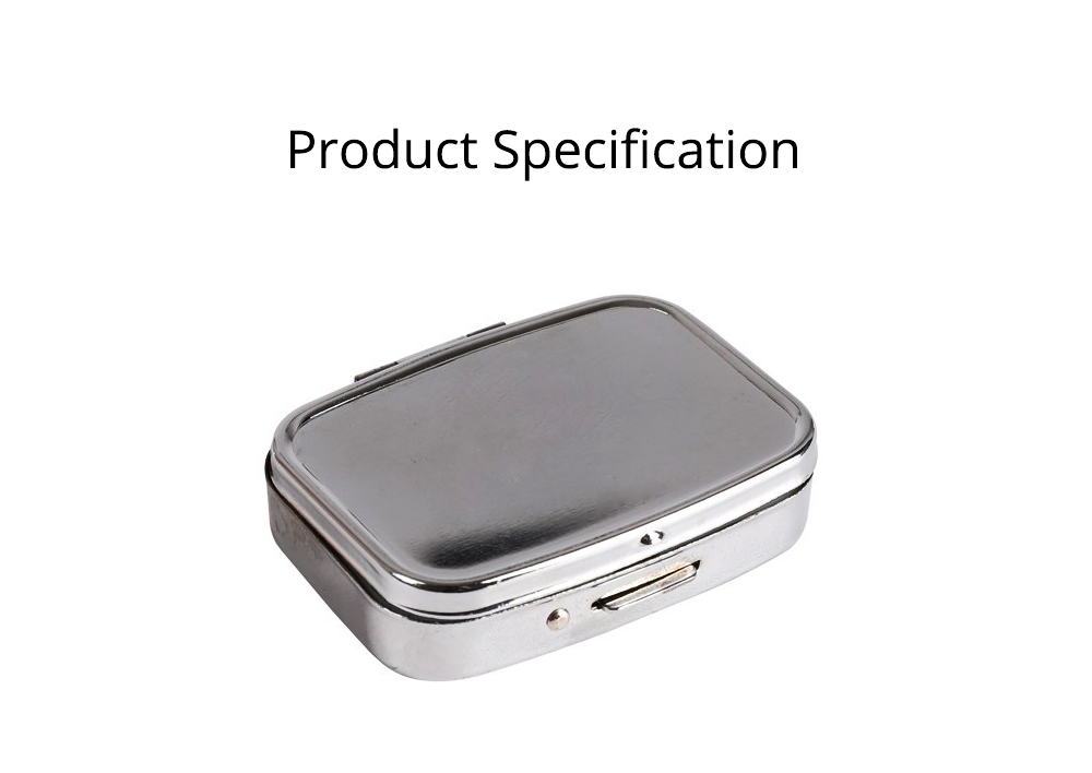 Portable Stainless Steel Moisture-proof Pill Box with Mirror Double Compartment Design & Press Type Bullet Cover Function Pill Case 6