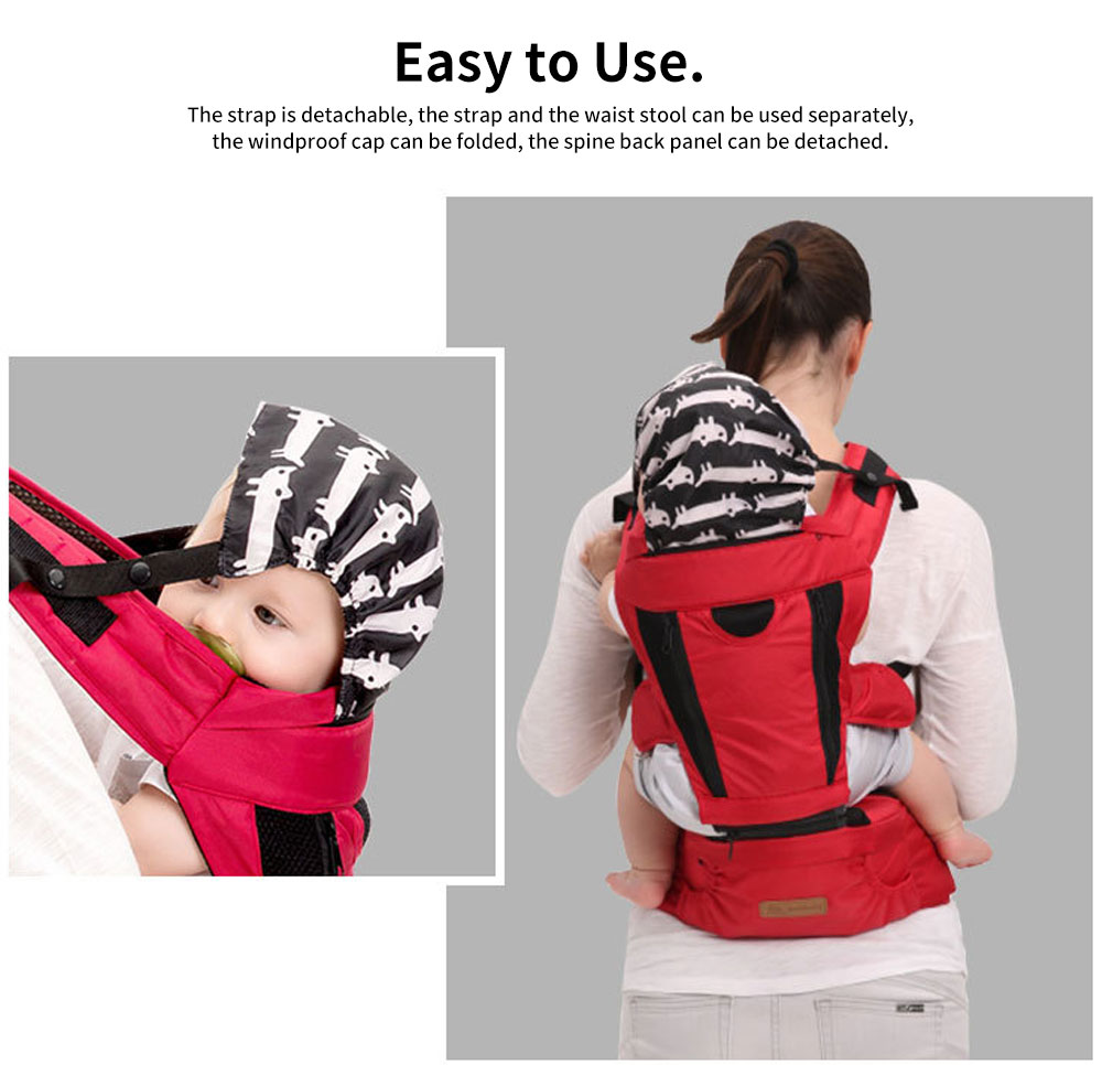 Front Carriers Baby Waist Stool Multifunctional Comfortable 4 Seasons Universal Detachable Baby Carriers Backpack 4