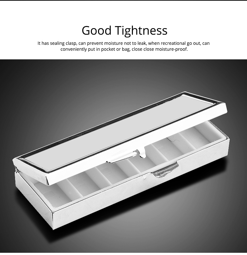 Stainless Steel Pill Holder, Creative 4 Shapes Pill Box With Inner Grid Design 3