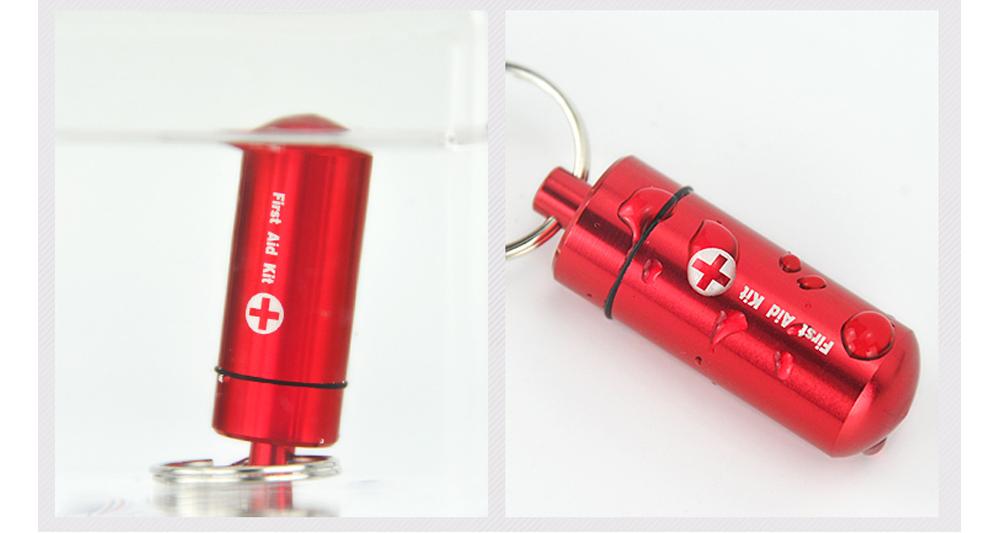 Waterproof Aluminum Pill Bottle Match Seal Storage Case Camping Capsule Seal Key-chain Bottle Holder Survival EDC Emergency Tool 4