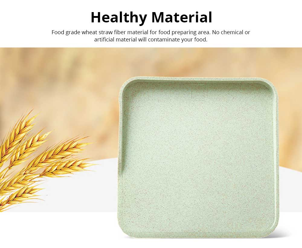 Non-Slip Anti-Bacterial Cutting Board, Wheat Straw Fiber Chopping Board for Meat Fruit and Vegetable 1