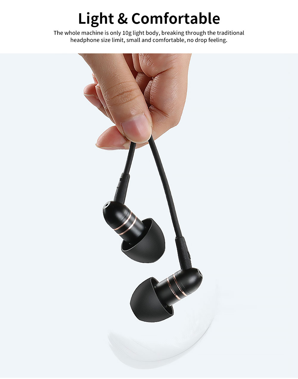 Subwoofer In-ear Headphones, High-quality Subwoofer Noise-reducing Earphone, Headphones for Notebook Wired Singing 3
