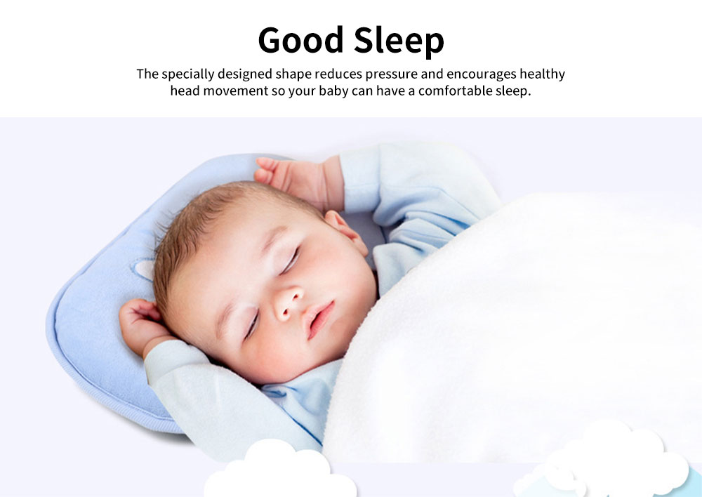 Baby Head Shaping Pillow 100% Cotton Newborn Pillow Flat Head Support Head Syndrome Prevention Pillow 2
