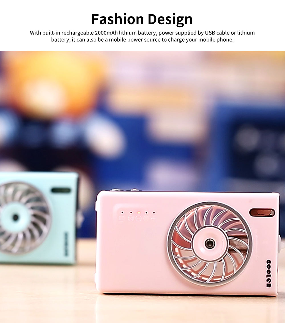 Mini Portable USB Handheld Misting Fan, USB Rechargeable Desk Fan with Personal Cooling Humidifier for Outdoor, Home, Car 4