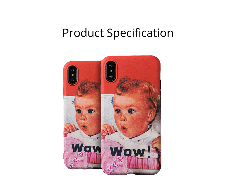 Cute Vintage WOW Girl Phone Shell for iPhone 6/6s, 6p/6sp, 7p/8p, X/XS, XR 9