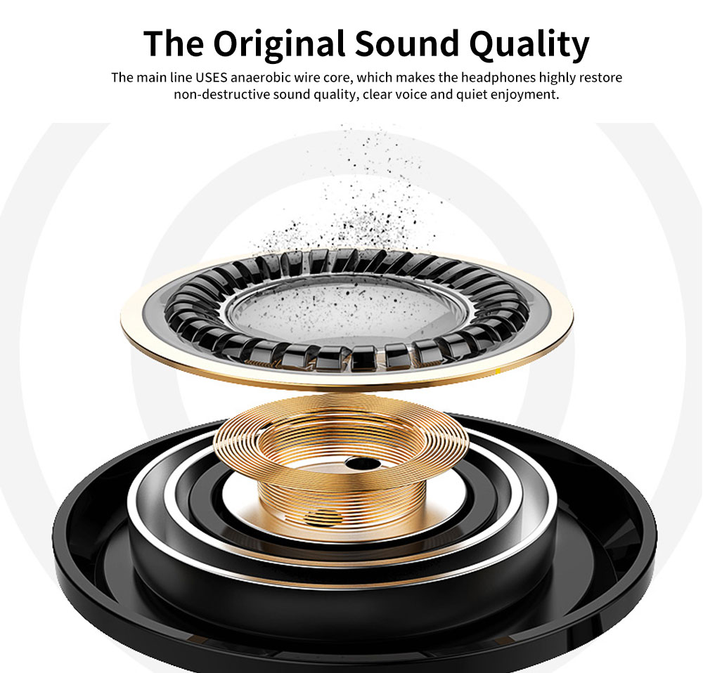Subwoofer In-ear Headphones, High-quality Subwoofer Noise-reducing Earphone, Headphones for Notebook Wired Singing 2
