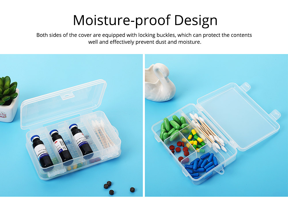 Transparent Pill Organizer For Small Medicine Bottle Wound Paste, Two-layers Portable Travel Medicine Box 3