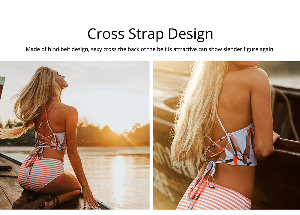 Backless Sexy Fission Swimsuit with Cross Band & Tie Design, Cutout Sexy Bikini, Skin-friendly Comfortable Swimsuit 6