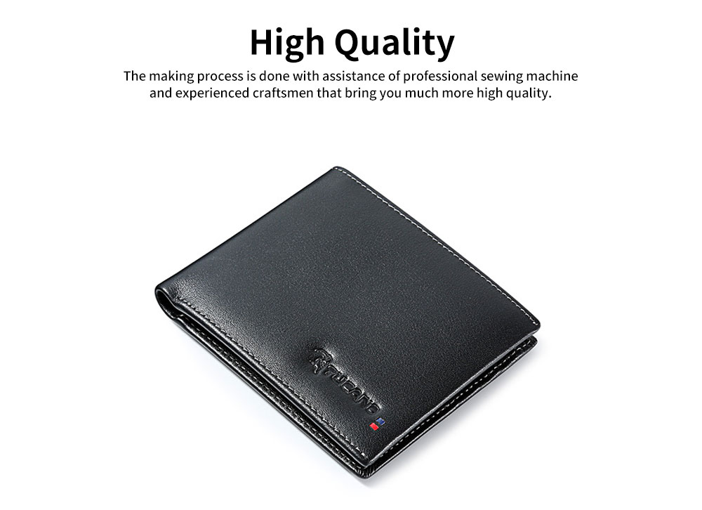Multi-layer Quality Genuine Leather Slim Wallets Bifold Vintage Money Clip Gifts for Male Men Boy 1