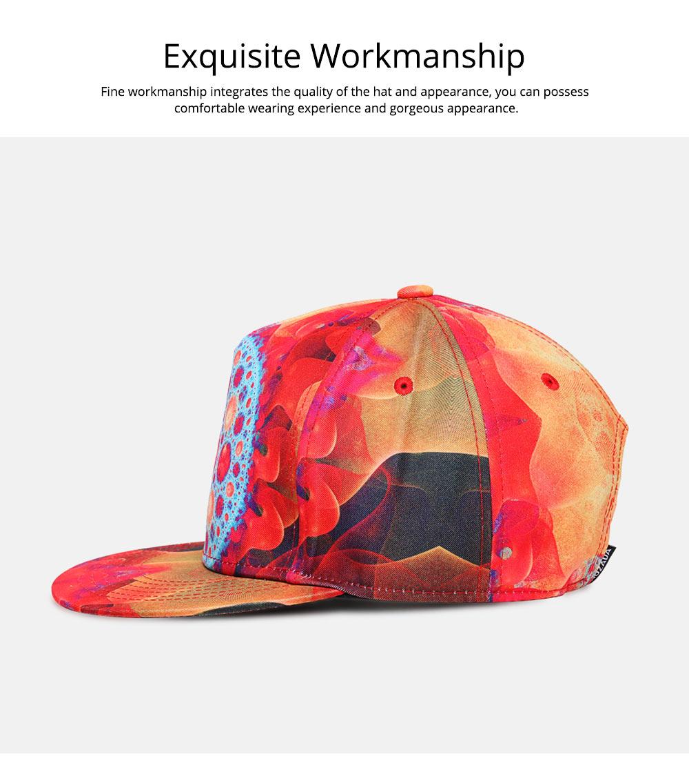 Fashion Flat-Brimmed Baseball Cap for Woman, Men's Street Dance & Hip-hop Cap 2