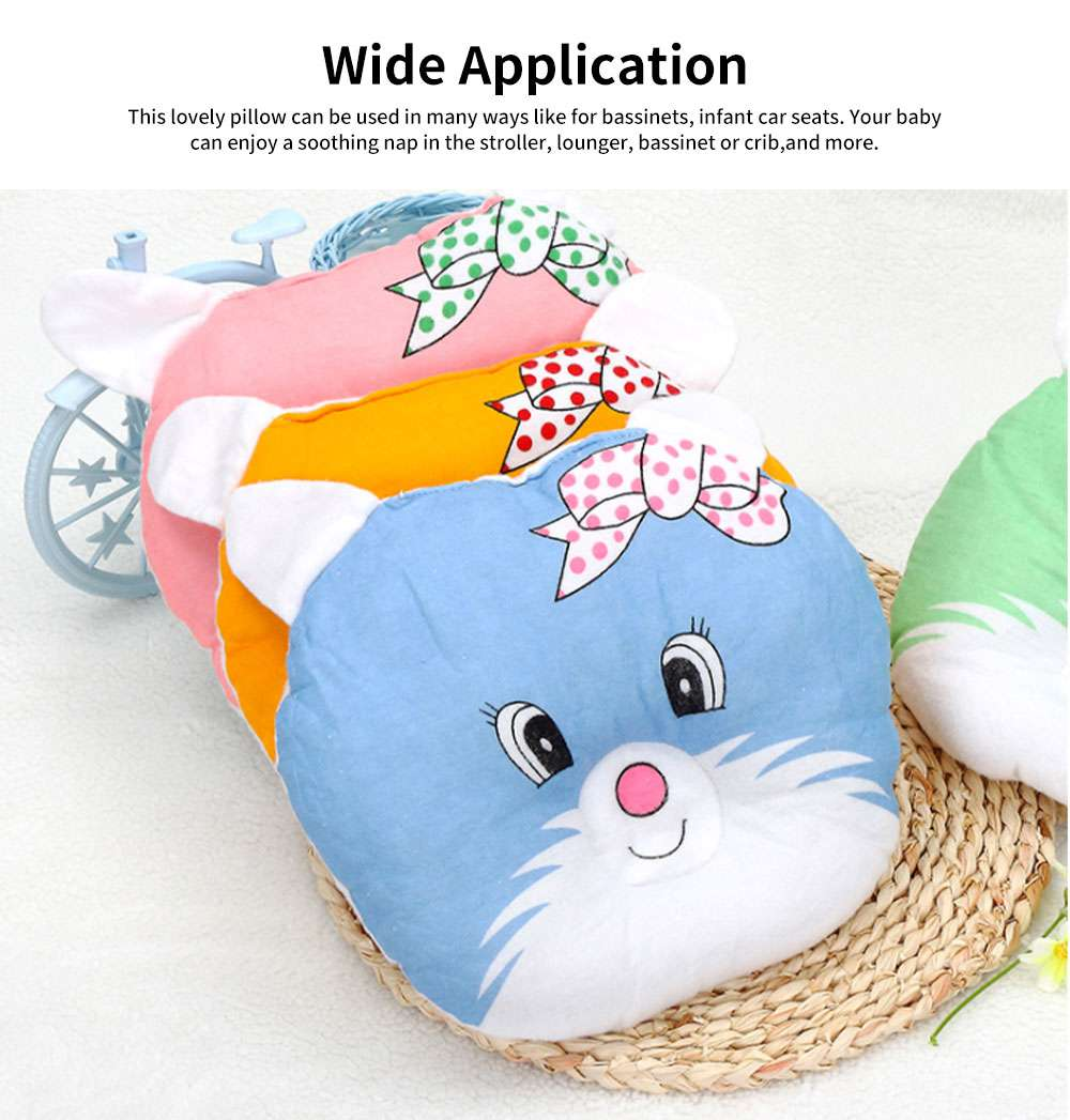 Baby Pillow Breathable Organic PP Cotton Newborn Head Shaping Pillow Flat Head Syndrome Prevention and Head Support Pillow 5