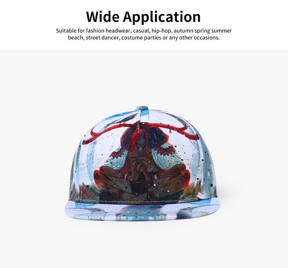 Unisex Hats Creative Graffiti Snapback Flat Bill Hip Hop Hats Casual Baseball Caps for Dancing Women Men Best Gifts 1