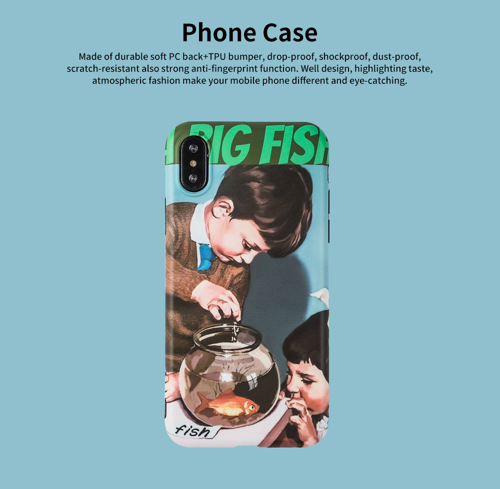 Soft TPU Full Body Protective Back Cover for iPhone 6s 7/ 7Plus/ 8/ 8 Plus/X/XS MAX/XR Retro Phone Shell Case 6
