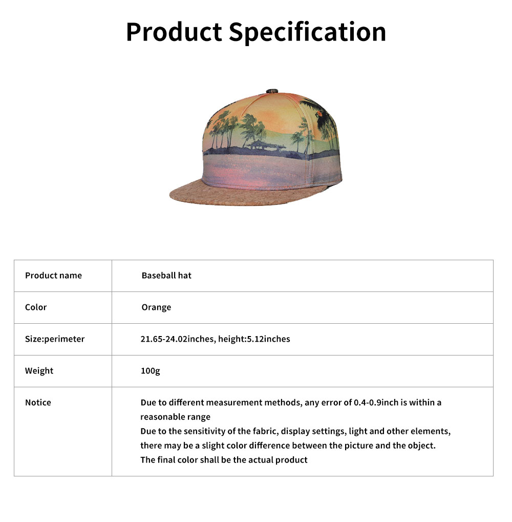 Unisex Baseball Hat Cotton Breathable Flat Bill Brim Baseball Caps with Adjustable Snapback Hip Hop Cap 6