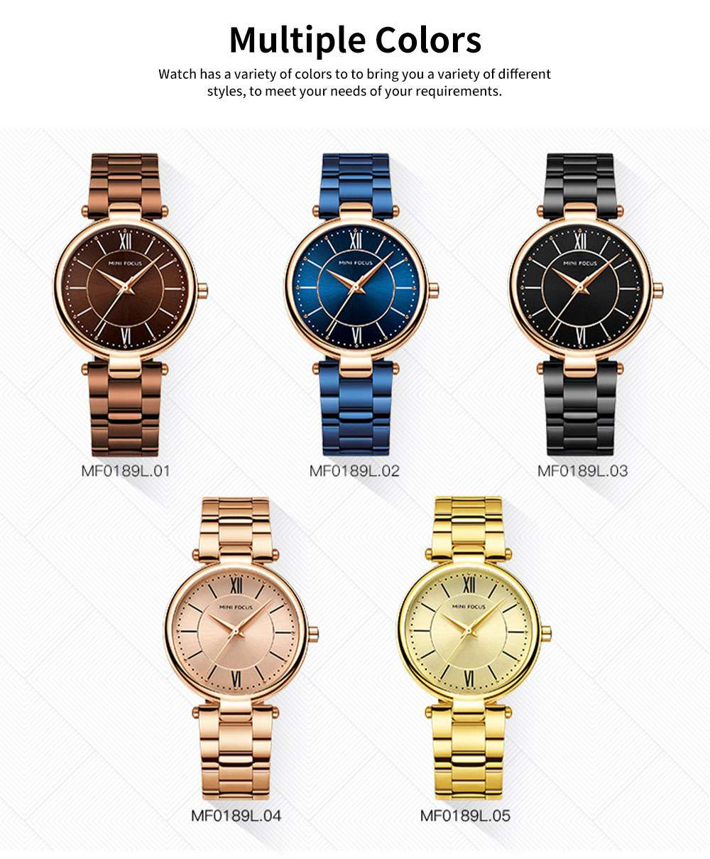 2019 New Elegant Fashion Female Quartz Watch, Women Wear-resisting Lens Three-needle Dail Wristwatch 2