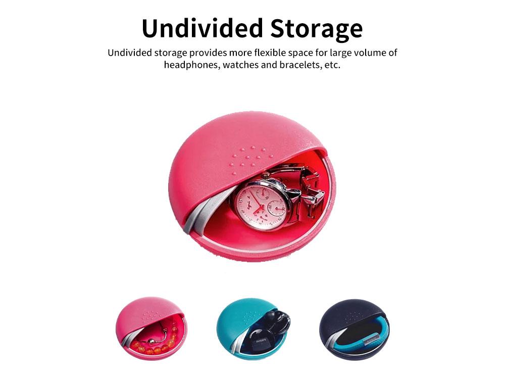 m square Mini PP ABS Round Pill Box Container Storage Case for Medicine Jewelry Vitamin Headphone 2