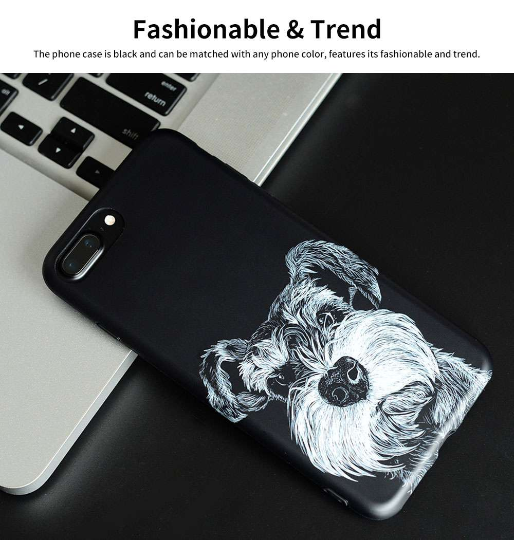 Cute Dog Printing Shockproof Phone Back Cover For iPhone 6, 6s, 6s Plus, 7, 8 Plus 5