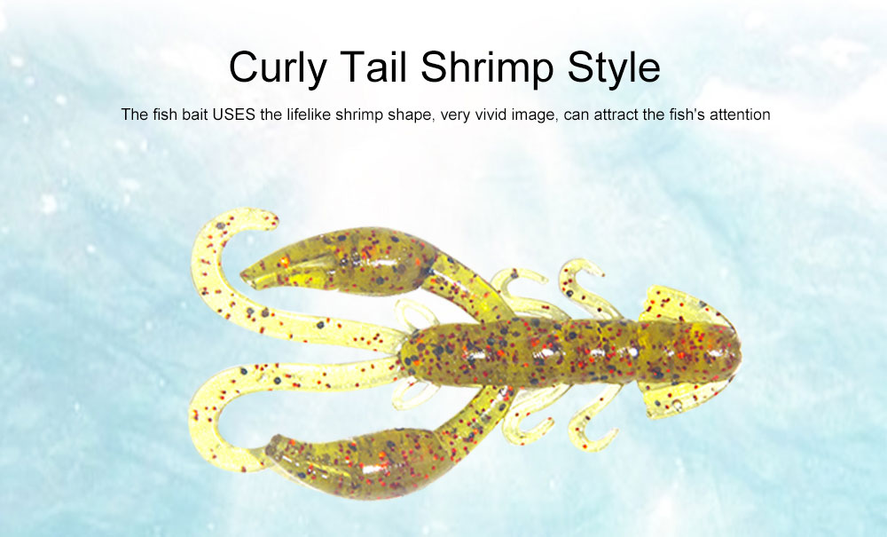 Luminous Fishing Lures with Curly Tail Shrimp Style, Fishy Lobster Bionic Baits Fishing Tackle Artificial Bait Fake Lures 1