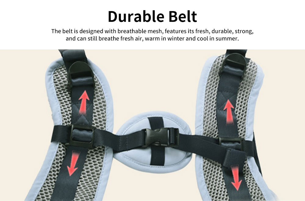 Adjustable Baby Carriers with Hip Seat Ergonomic Soft Safe Comfortable Backpack for infant Toddler Newborn 3