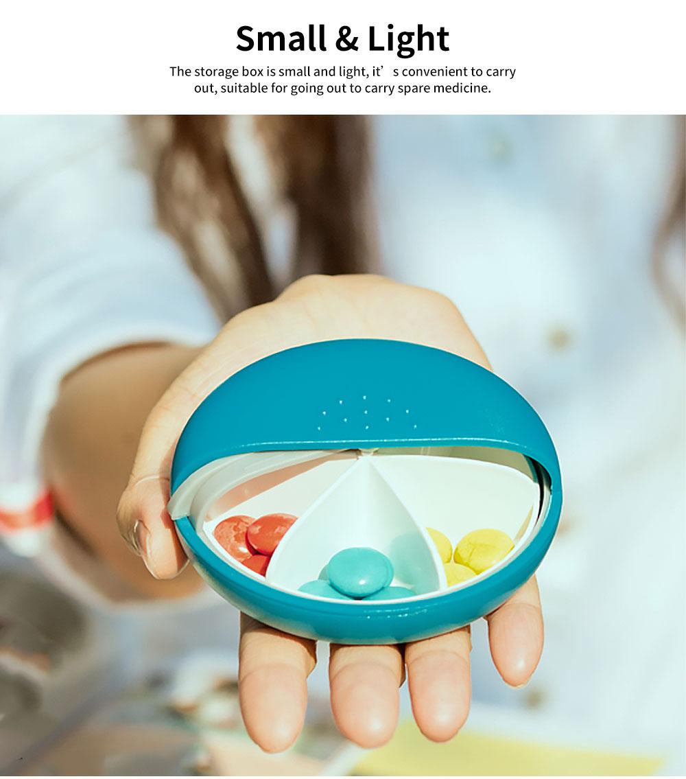 m square Mini PP ABS Round Pill Box Container Storage Case for Medicine Jewelry Vitamin Headphone 1