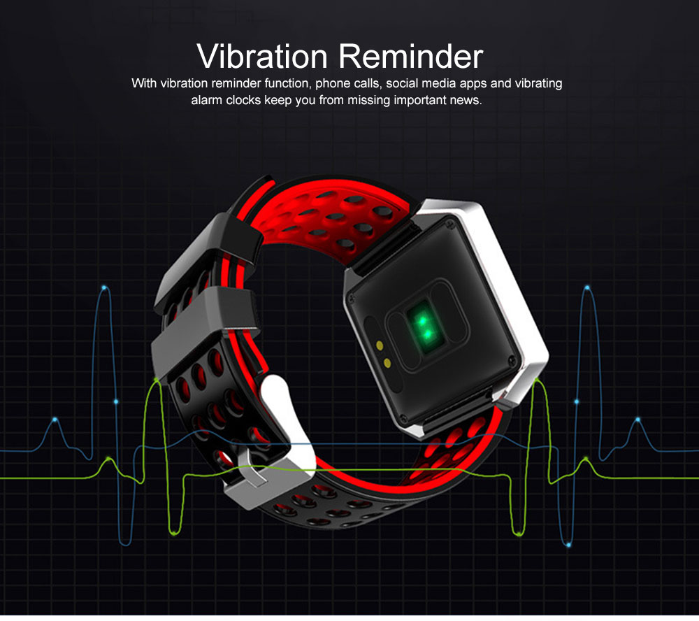 Multifunctional Smart Electronic Watch, Water-poof Bracelet with 1.3-inch OLED Touch Screen, Supporting Sports Step & Heart Rate with IOS, Android Bluetooth 5