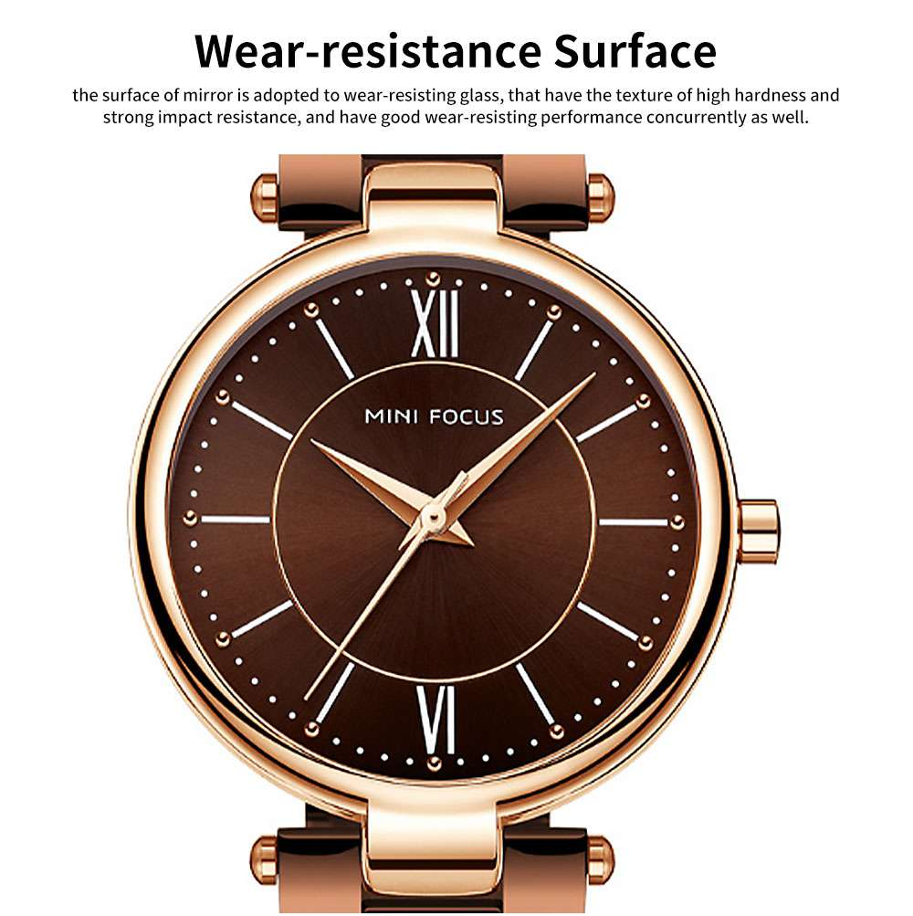 2019 New Elegant Fashion Female Quartz Watch, Women Wear-resisting Lens Three-needle Dail Wristwatch 3