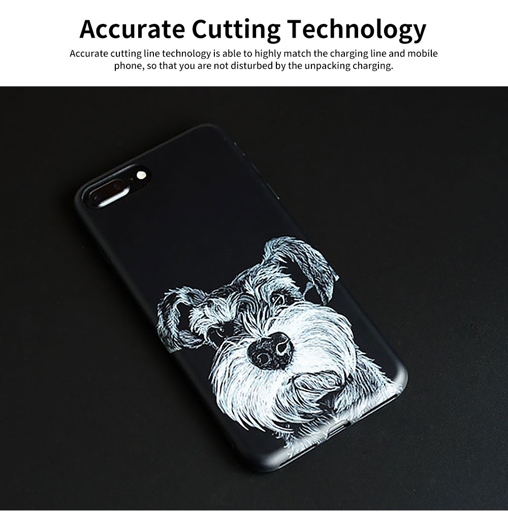 Cute Dog Printing Shockproof Phone Back Cover For iPhone 6, 6s, 6s Plus, 7, 8 Plus 4