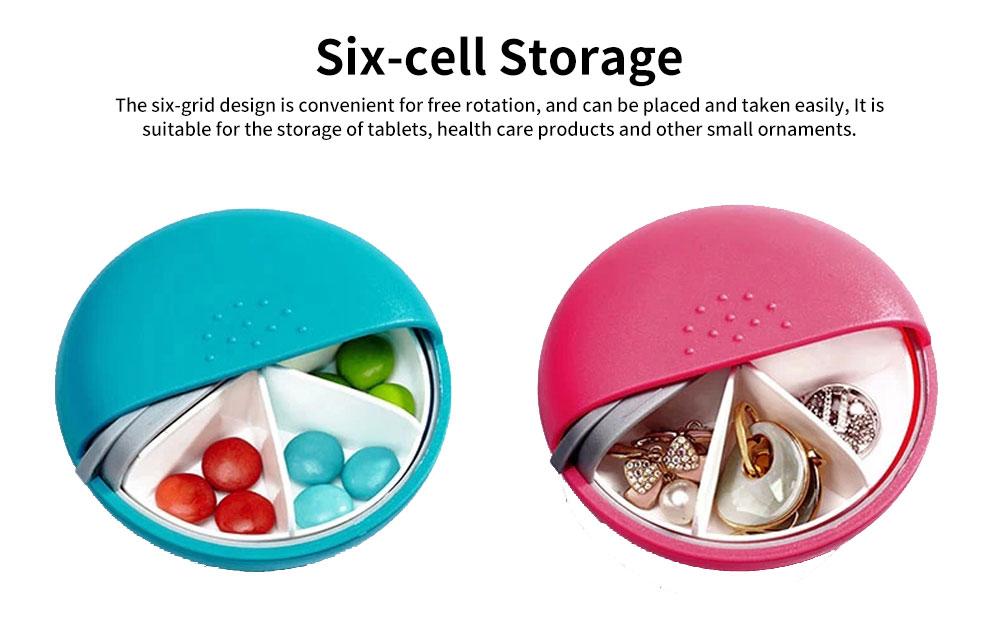 m square Mini PP ABS Round Pill Box Container Storage Case for Medicine Jewelry Vitamin Headphone 3