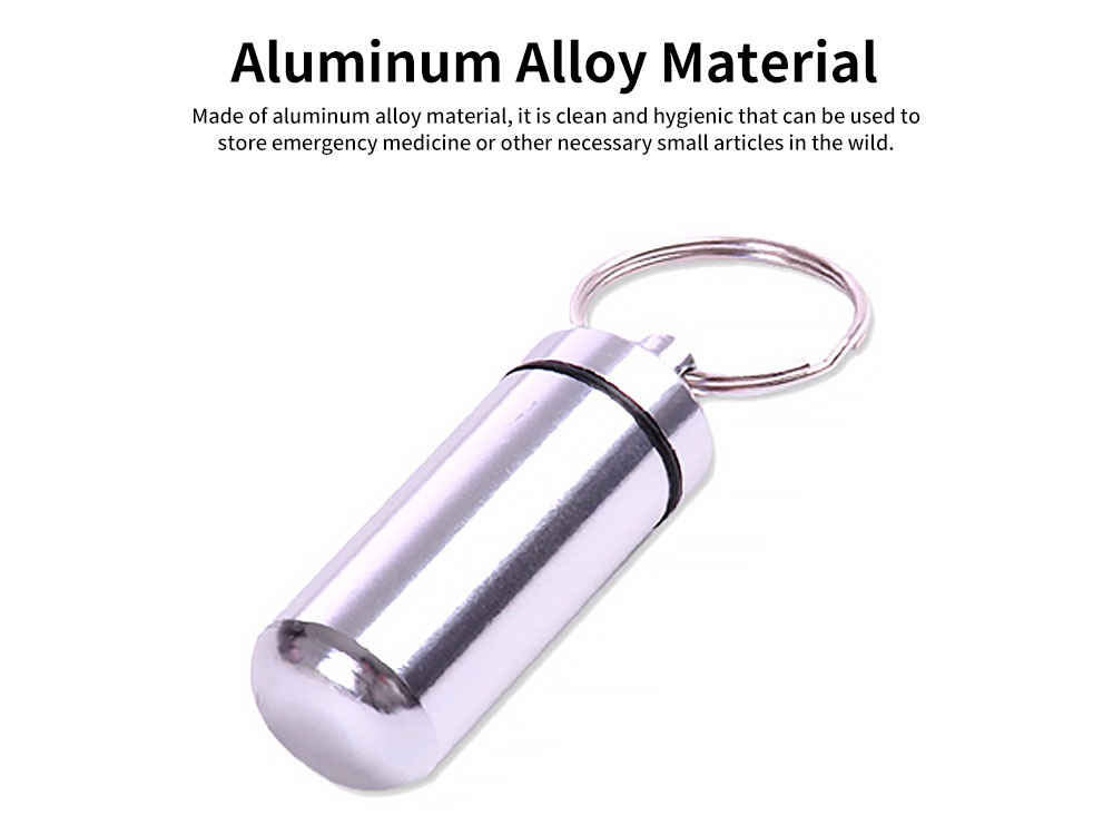 Mini Pill Storage Canister Aluminum Alloy Portable Container for Medicine Jewelry Emergency Notes Waterproof Store Drug Jar 3