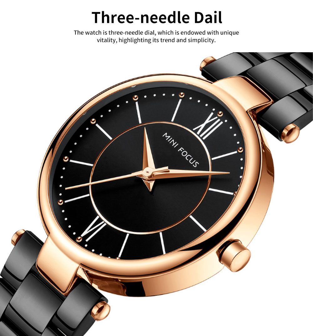 2019 New Elegant Fashion Female Quartz Watch, Women Wear-resisting Lens Three-needle Dail Wristwatch 1