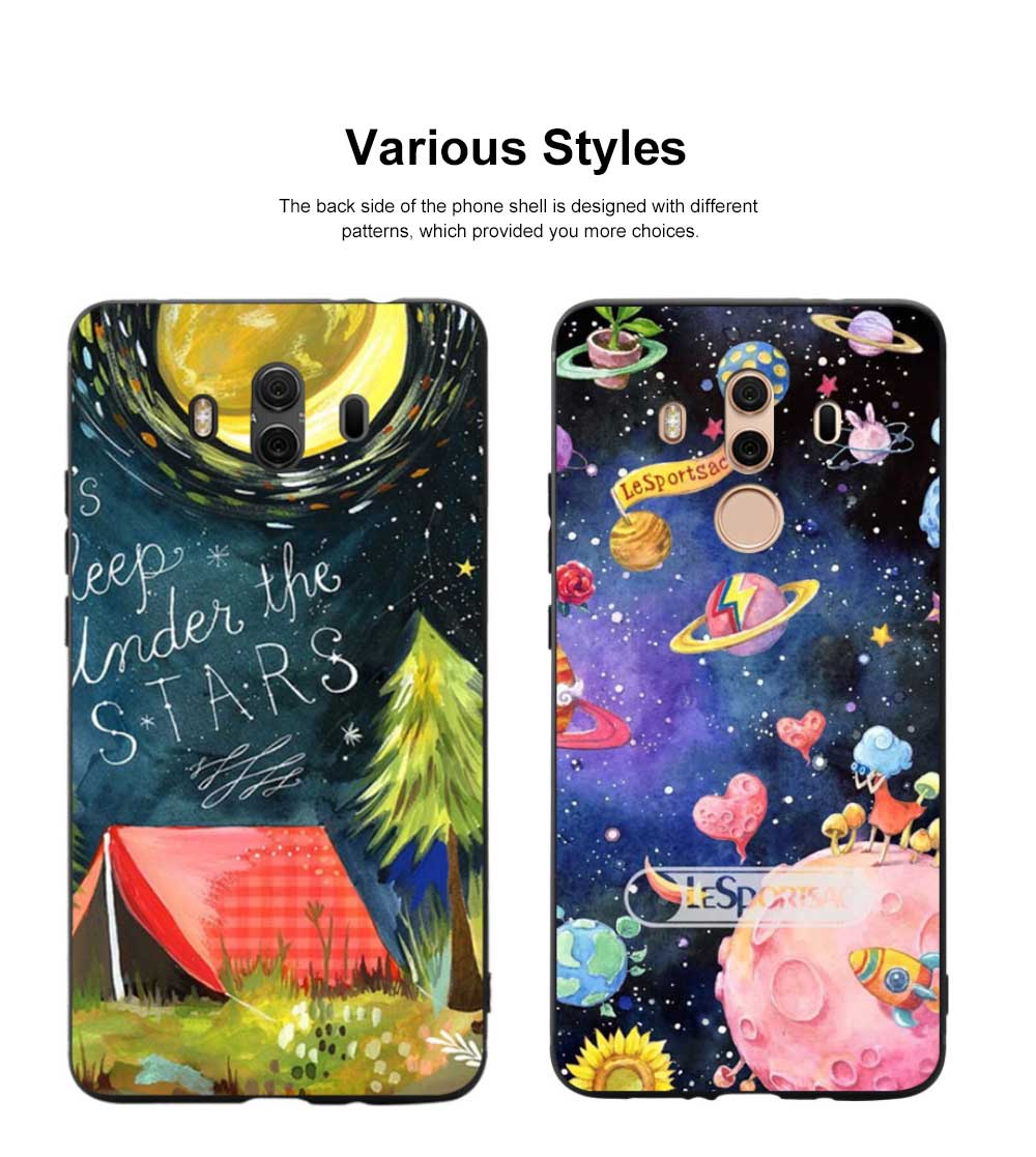 Creative Planet Oil Painting Silicone Phone Shell for Huawei Mate 10 Drop-resistance Huawei Mate 20 Cover Phone Case 10