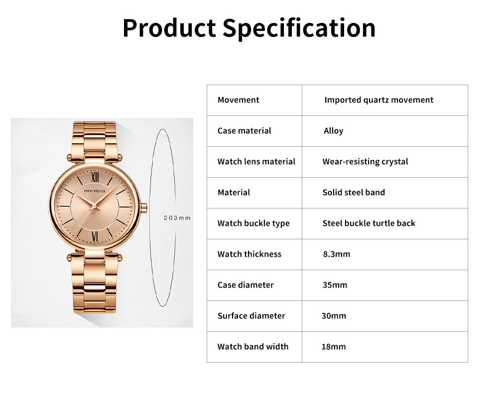 2019 New Elegant Fashion Female Quartz Watch, Women Wear-resisting Lens Three-needle Dail Wristwatch 6