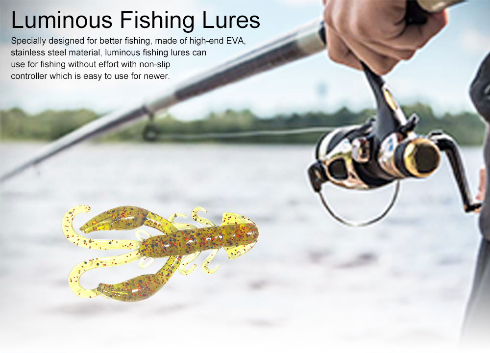Luminous Fishing Lures with Curly Tail Shrimp Style, Fishy Lobster Bionic Baits Fishing Tackle Artificial Bait Fake Lures 0