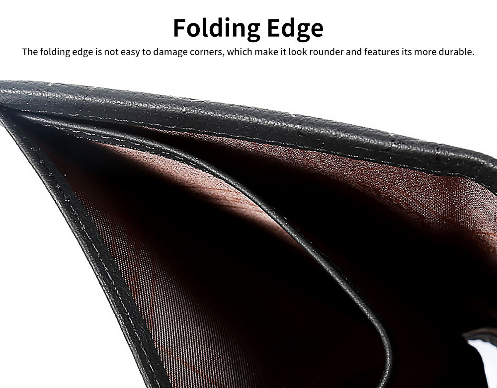 Cowhide Leather Front Pocket Minimalist Short Wallet For Men With Exquisite Gift Box 3
