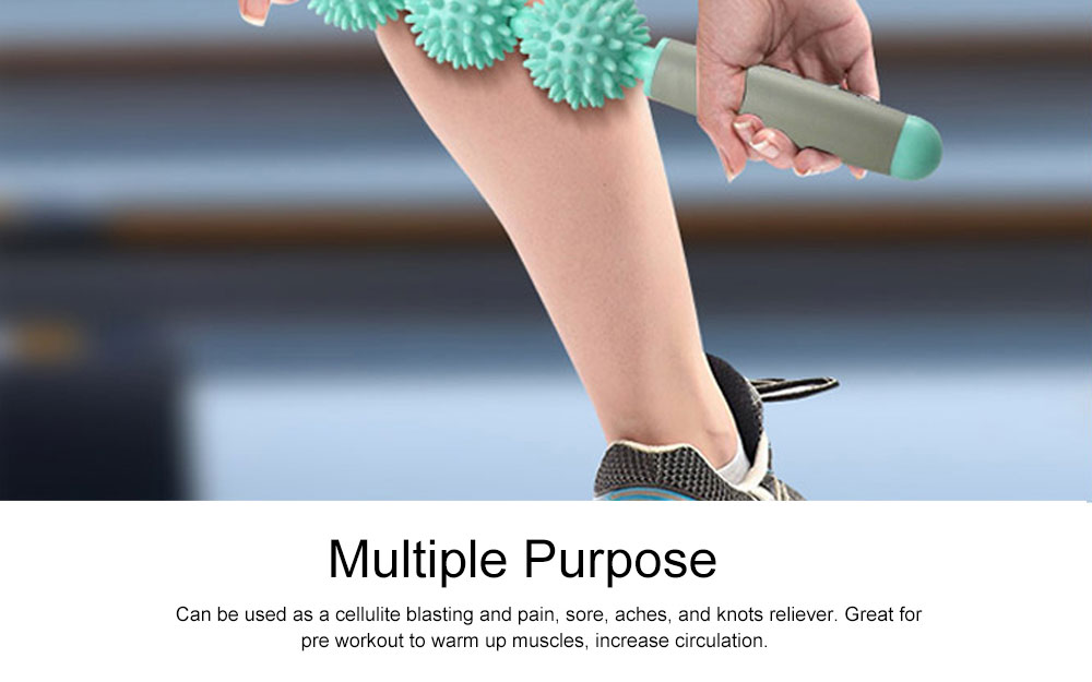 Prick Ball Massage Stick for Muscle Relaxation, Cellulite Breaking Down Stick, Skin Beauty, Fat Loss, Muscle Pain, Tension Relieve Roller 5