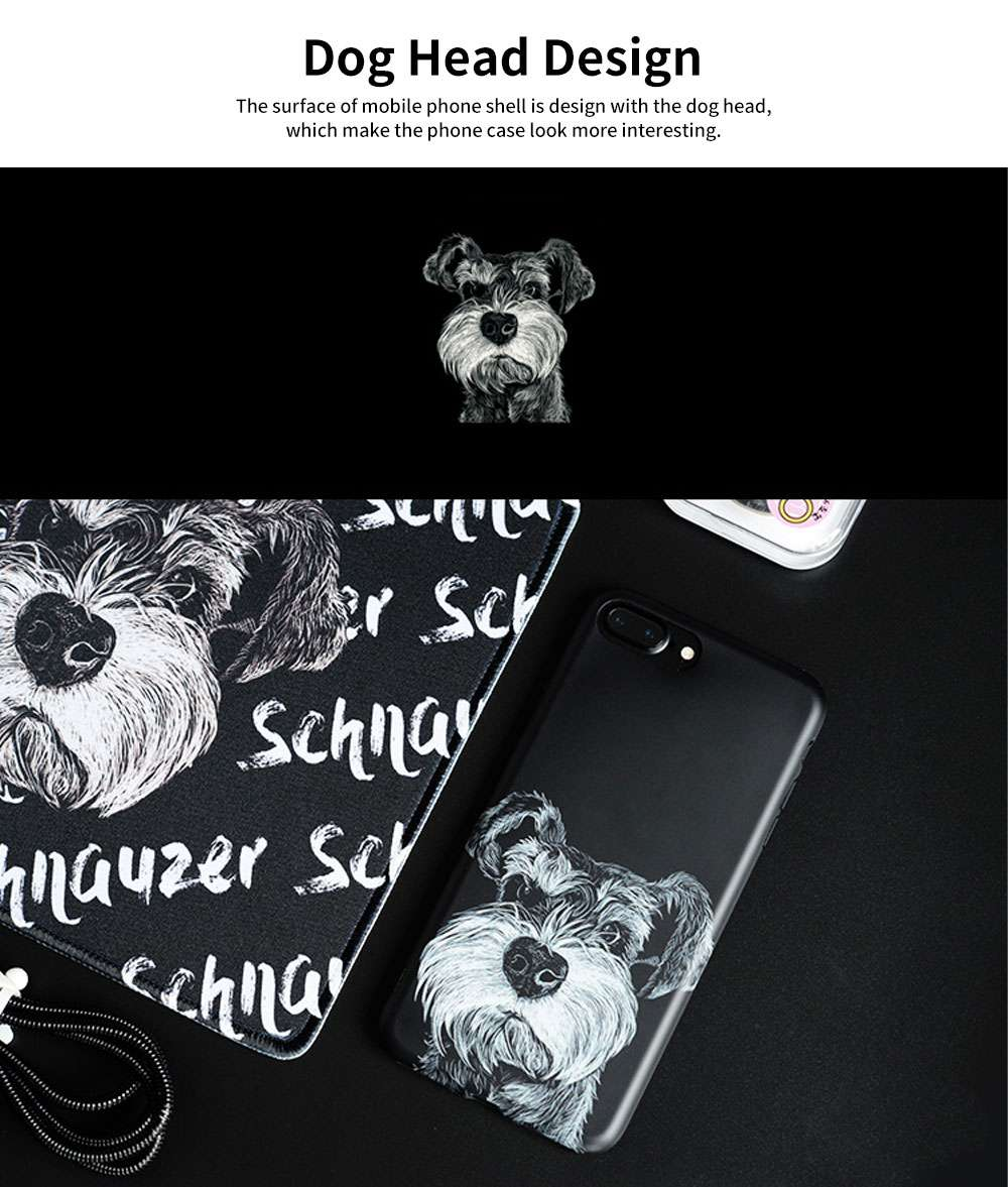 Cute Dog Printing Shockproof Phone Back Cover For iPhone 6, 6s, 6s Plus, 7, 8 Plus 1