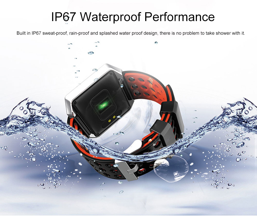 Multifunctional Smart Electronic Watch, Water-poof Bracelet with 1.3-inch OLED Touch Screen, Supporting Sports Step & Heart Rate with IOS, Android Bluetooth 6