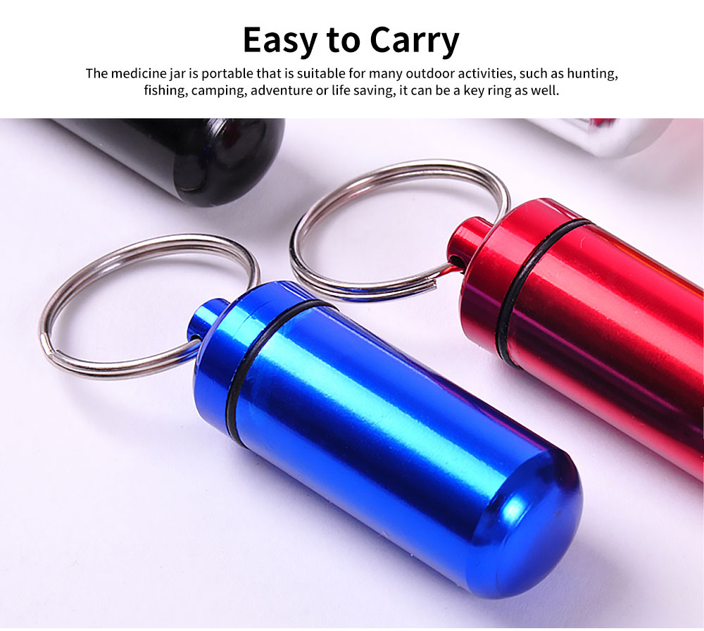 Mini Pill Storage Canister Aluminum Alloy Portable Container for Medicine Jewelry Emergency Notes Waterproof Store Drug Jar 1