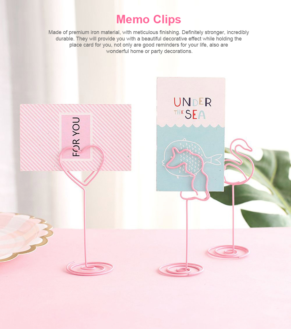 Memo Clip Holder Stand Cute Portable Metal Picture Card Note Clip Stand Useful Stationery Desk Decor 0