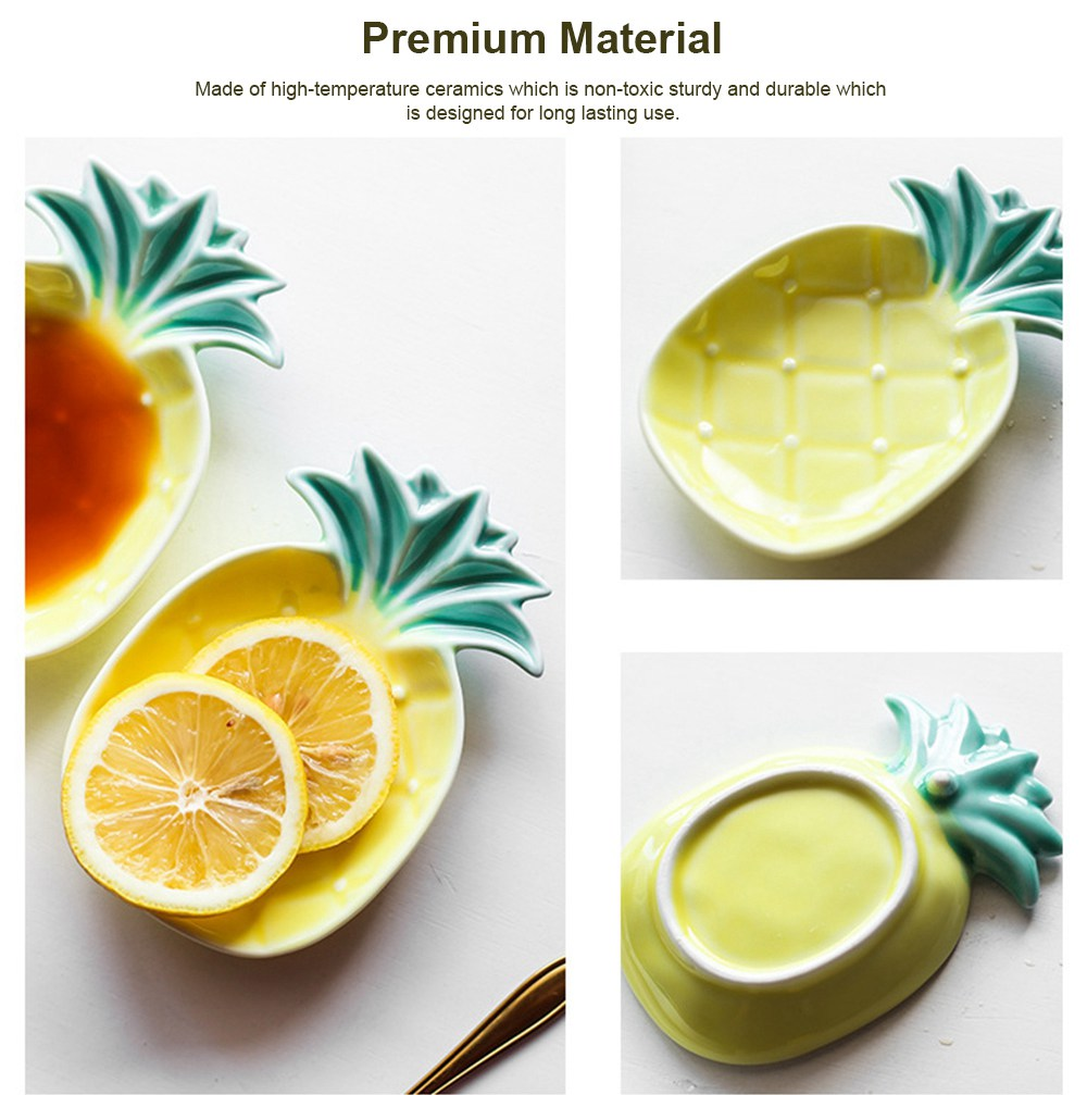 Creative Pineapple Sauce Dish Cute Ceramic Seasoning Dish Appetizer Plates Dessert Plate Snacks Dish Jewelry Tray 5