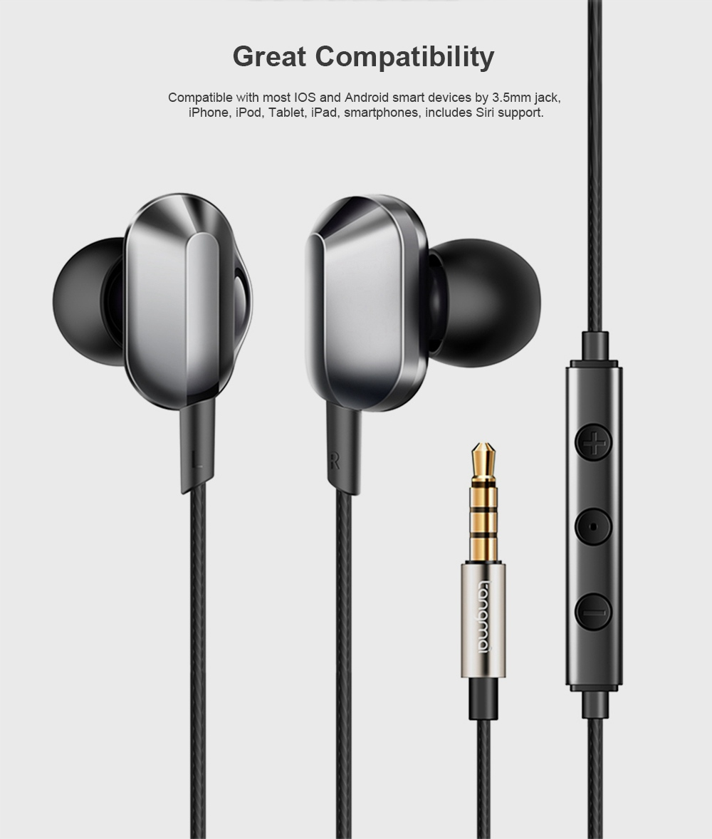 Universal A8 Quad-core Headphones Subwoofer Wired In-ear Earbuds Mobile Phone High-quality Karaoke Headset HiFi 5