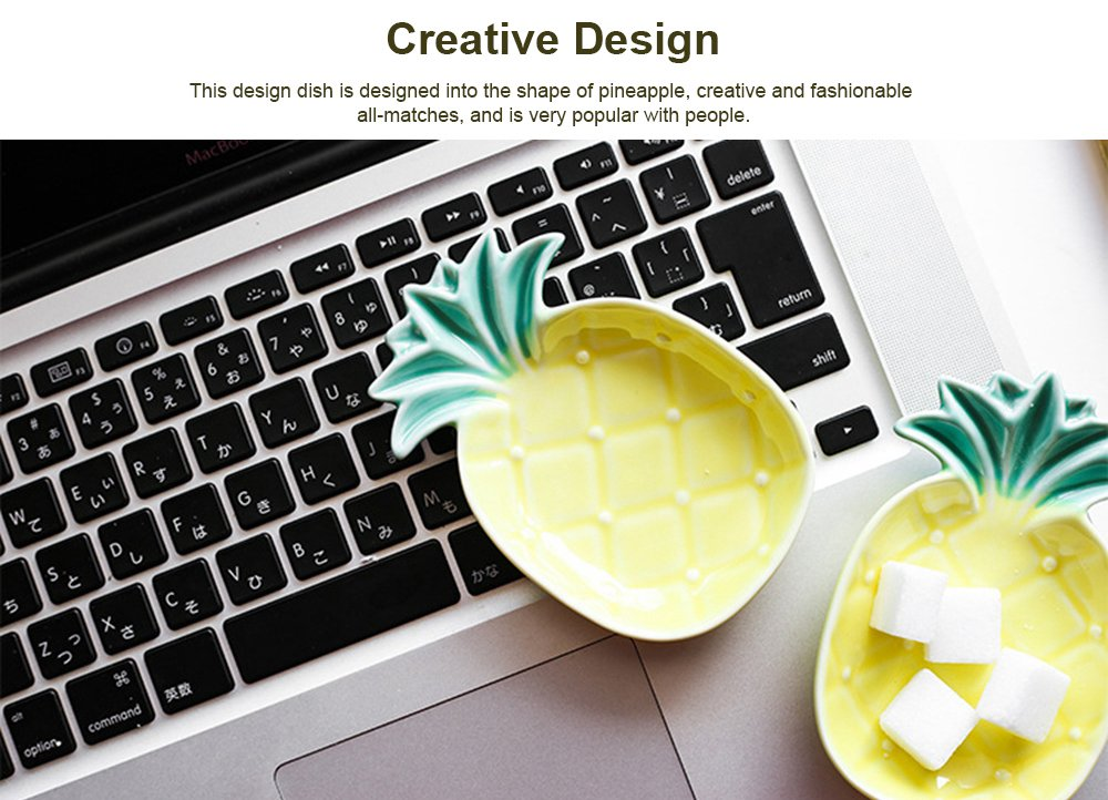 Creative Pineapple Sauce Dish Cute Ceramic Seasoning Dish Appetizer Plates Dessert Plate Snacks Dish Jewelry Tray 2