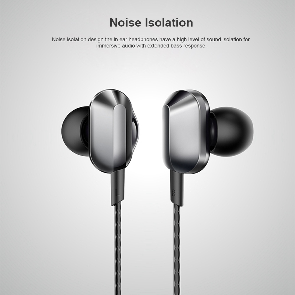 Universal A8 Quad-core Headphones Subwoofer Wired In-ear Earbuds Mobile Phone High-quality Karaoke Headset HiFi 3