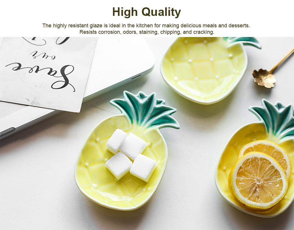 Creative Pineapple Sauce Dish Cute Ceramic Seasoning Dish Appetizer Plates Dessert Plate Snacks Dish Jewelry Tray 1