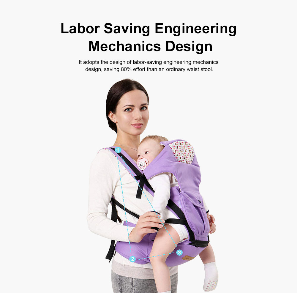 Baby Carrier Backpack Multifunctional 10 Position Anti-slip Buckle Sunshade Baby Waist Stool For Infant Newborn 1