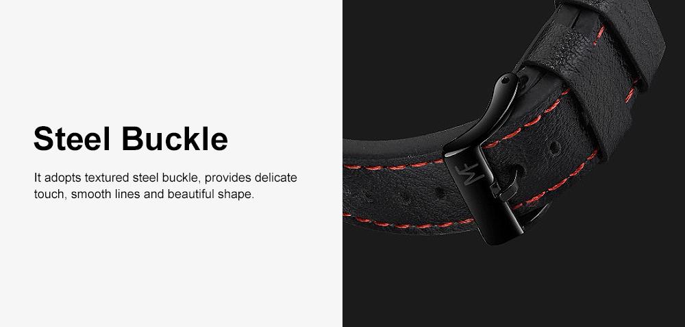 Men's Fashion Watch Leather Strap Alloy Wristwatch Luminous Water Proof Quartz Mechanical Watch with Calendar Display 3